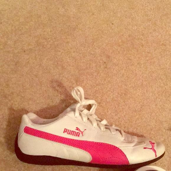 pink and white puma shoes - WinWin Atlantic